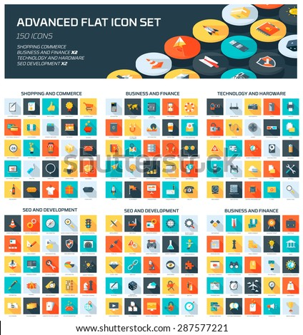Advanced Web Icon Set - stock vector