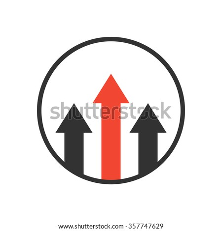 advantage icon. business growth concept. isolated on white background. vector illustration - stock vector