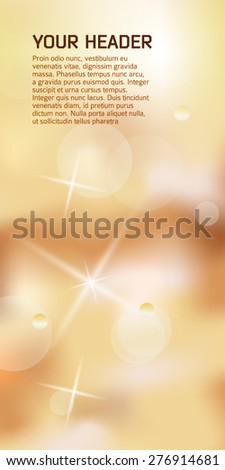 Advertisement flyer design elements. Cappuccino background with elegant graphic stars bright light rays from. Vector illustration EPS 10 for template brochure, layout leaflet, cafe menu card  - stock vector