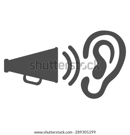 Advertisement icon from Business Bicolor Set. Vector style: flat symbol, gray color, rounded angles, white background. - stock vector