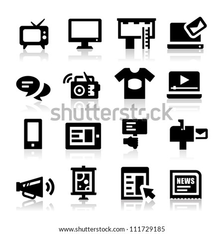 Advertisement icons - stock vector