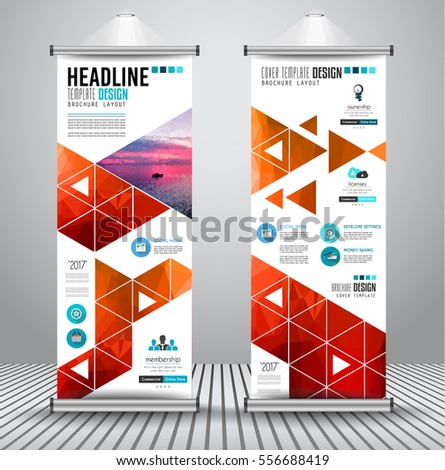 Advertisement Roll Business Flyer Brochure Banner Stock Vector