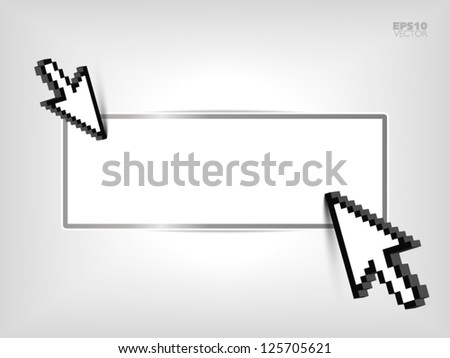 Advertisement space with mouse cursor - stock vector