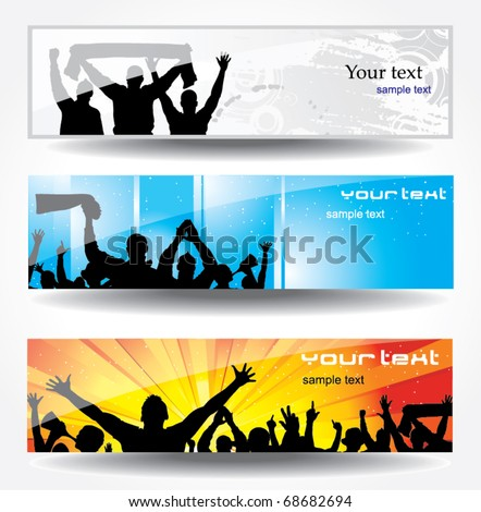 Advertising banner for sports championships and concerts - stock vector