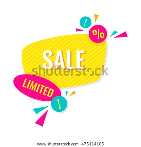 Advertising banner. Limited sale. Colorful vector illustration
