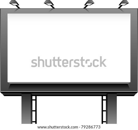 Advertising Billboard - stock vector