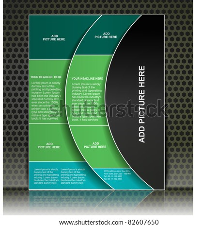 advertising brochure design template, vector. - stock vector