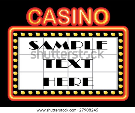Advertising casino background with neons - stock vector