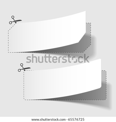 Advertising coupons. Vector. - stock vector