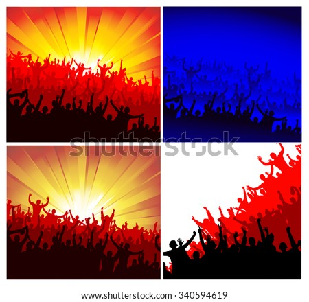 advertising crowd of people for any events - stock vector