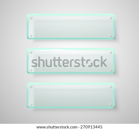 Advertising glass boards. Place your text - stock vector
