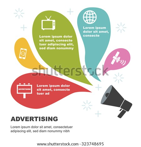 advertising infographic templates, vector illustration - stock vector