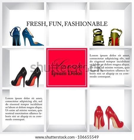 Advertising shoe cover| Editable Illustration - stock vector