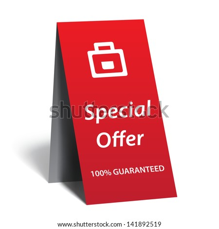 Advertising  - special offer - stock vector