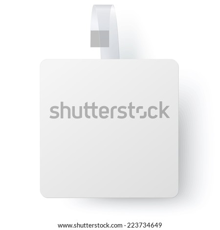 Advertising white paper square wobbler isolated - stock vector