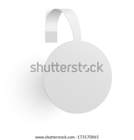 Advertising wobbler isolated on white background - stock vector