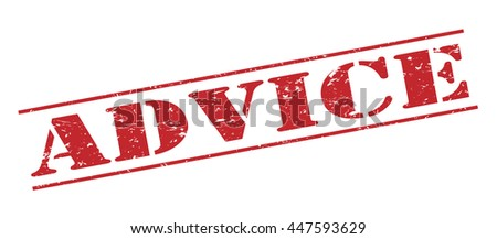 advice vector stamp on white background
