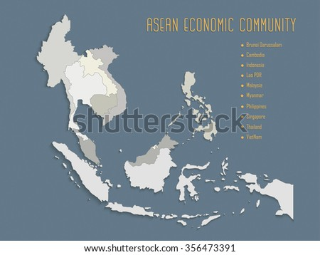 South East Asia Map Stock Images RoyaltyFree Images Vectors - Economic zones southeast asia map