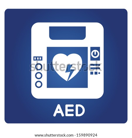 Aed Symbol Automated External Defibrillator Stock Vector 159890924