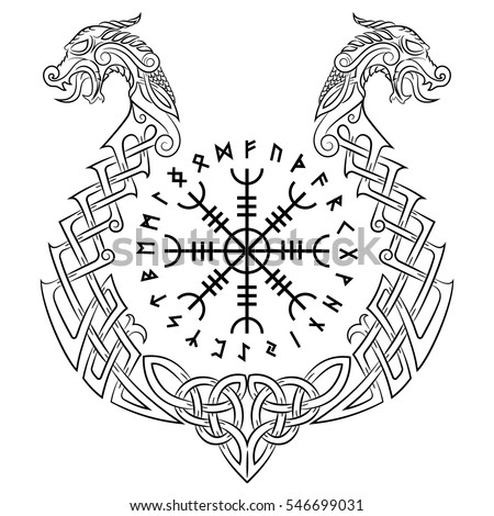Aegishjalmur Helm Of Awe Terror Icelandic Magical Staves And The