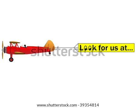 Aerial advertising - stock vector