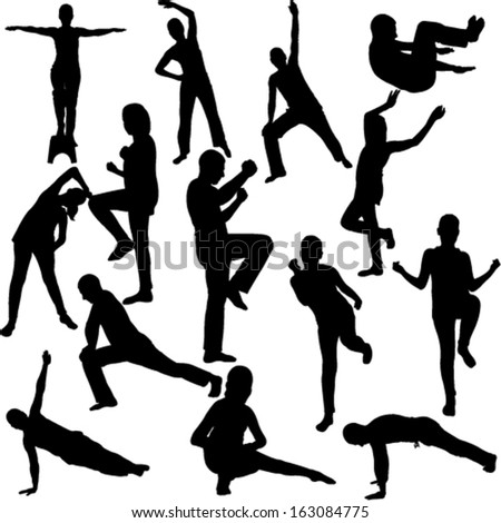 aerobics collection - vector 1 - stock vector