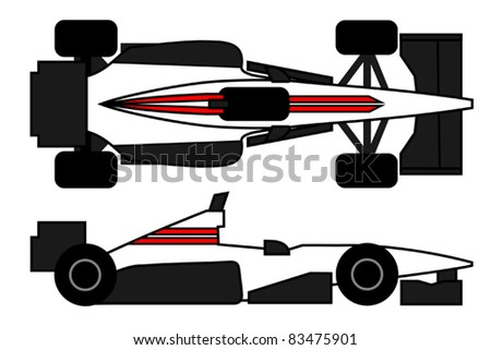 Aerodynamic car to compete - stock vector