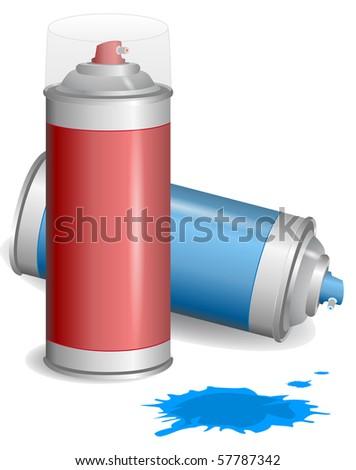Aerosol graffiti paint spray. Vector Illustration. EPS10 - stock vector
