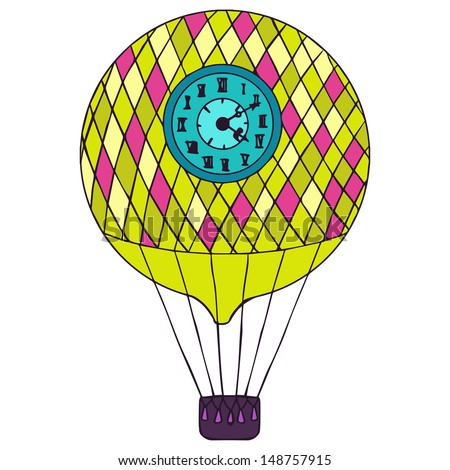 Aerostat isolated vector illustration.