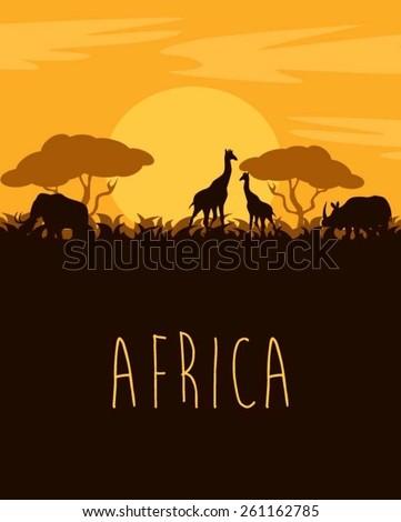 Africa - stock vector