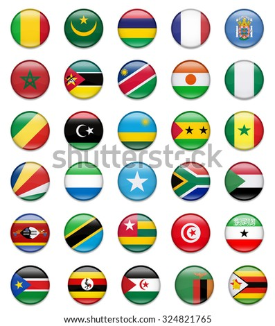 Africa Button Flag Collection-Part 2