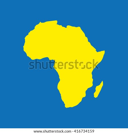 Africa continent highly detailed map. Vector. - stock vector