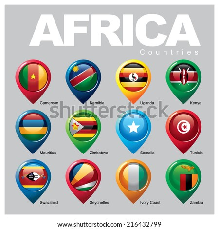AFRICA Countries - Part TWO - stock vector