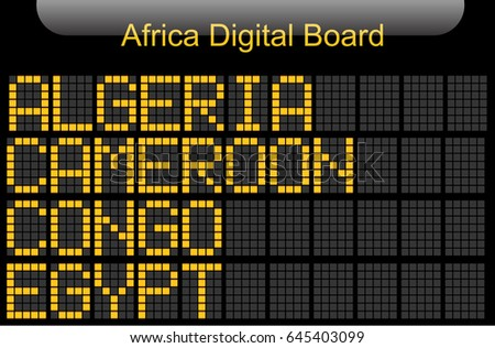 Africa Country Digital Board Information