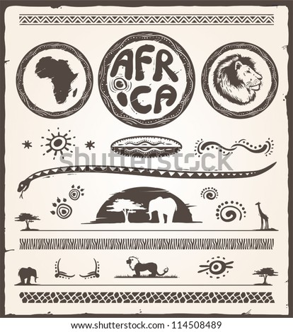 Africa Design Elements Collection - stock vector
