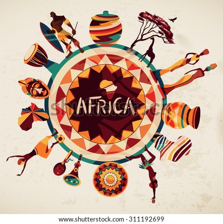 Africa elements and icons.Vector - stock vector