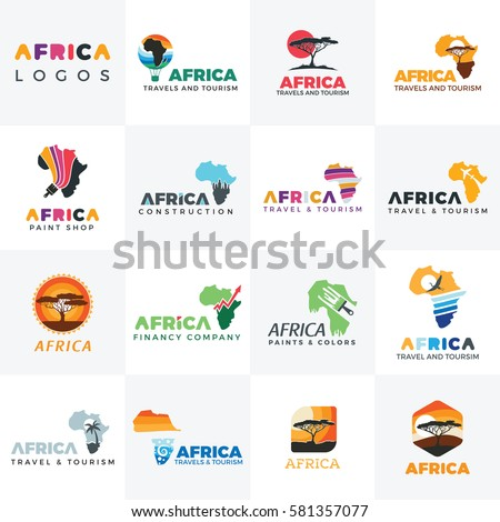 africa logo africa map logo template stock vector 581357077 shutterstock. Black Bedroom Furniture Sets. Home Design Ideas
