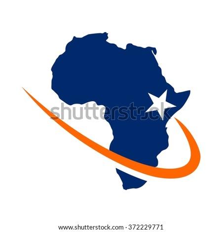 africa map logo design