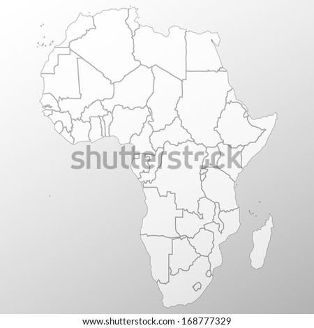 Africa map background vector - stock vector