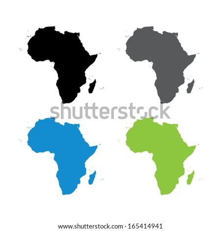 africa map - vector - stock vector
