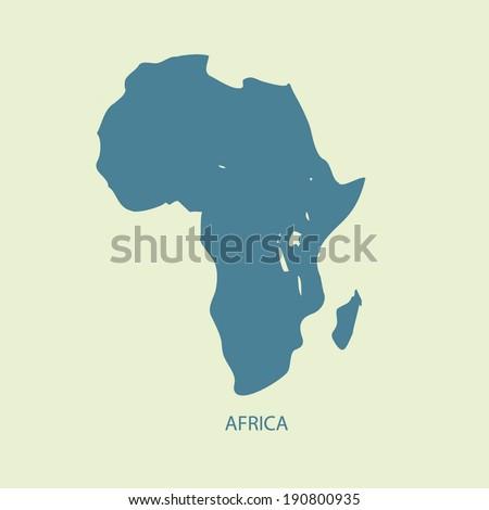 AFRICA MAP VECTOR  - stock vector