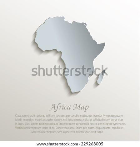 Vector Africa Map Card Paper 3d Stock Vector 152987942 Shutterstock