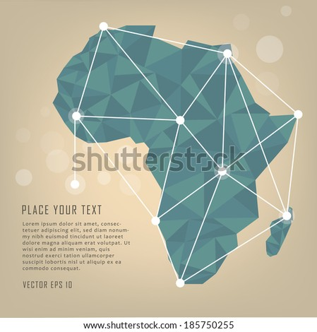 Africa vector map - stock vector