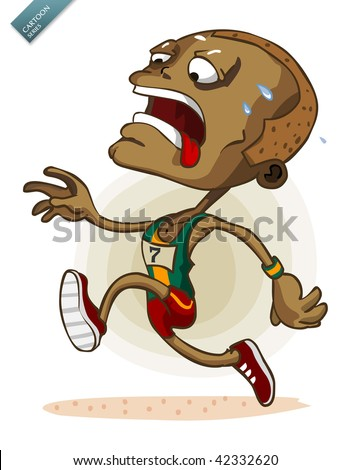 African Athlete on Marathon - stock vector