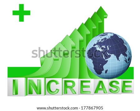 African countries business on green rising arrow graph vector illustration - stock vector