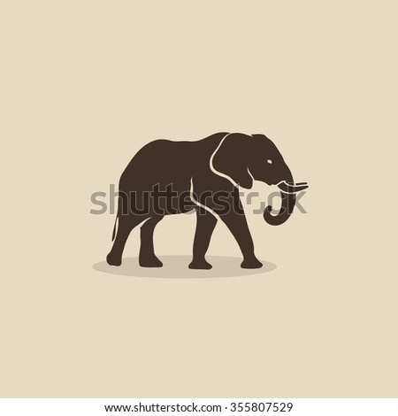 african elephant vector illustration