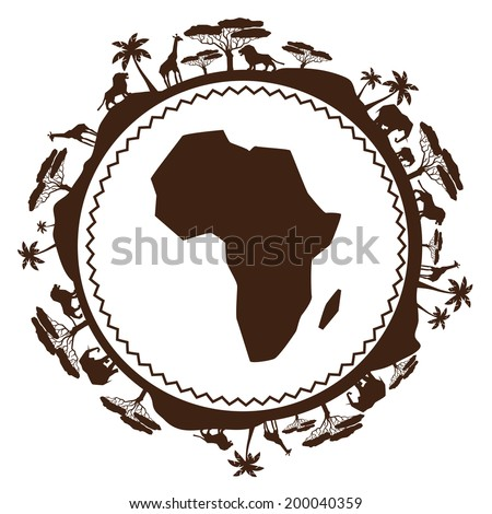 African ethnic background in design flat style. - stock vector