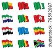 african flag set - stock photo