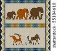 African motif design, background illustration - stock vector