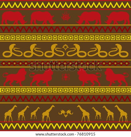 African pattern in various colors - stock vector